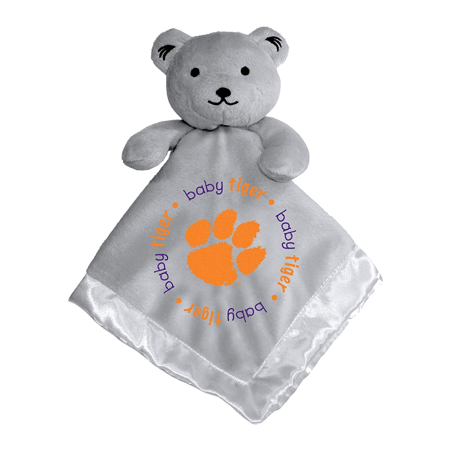 """Baby Fanatic NCAA Legacy Infant Security Bear Blanket, Clemson Tigers Gray, 14"""" X 14"""""""