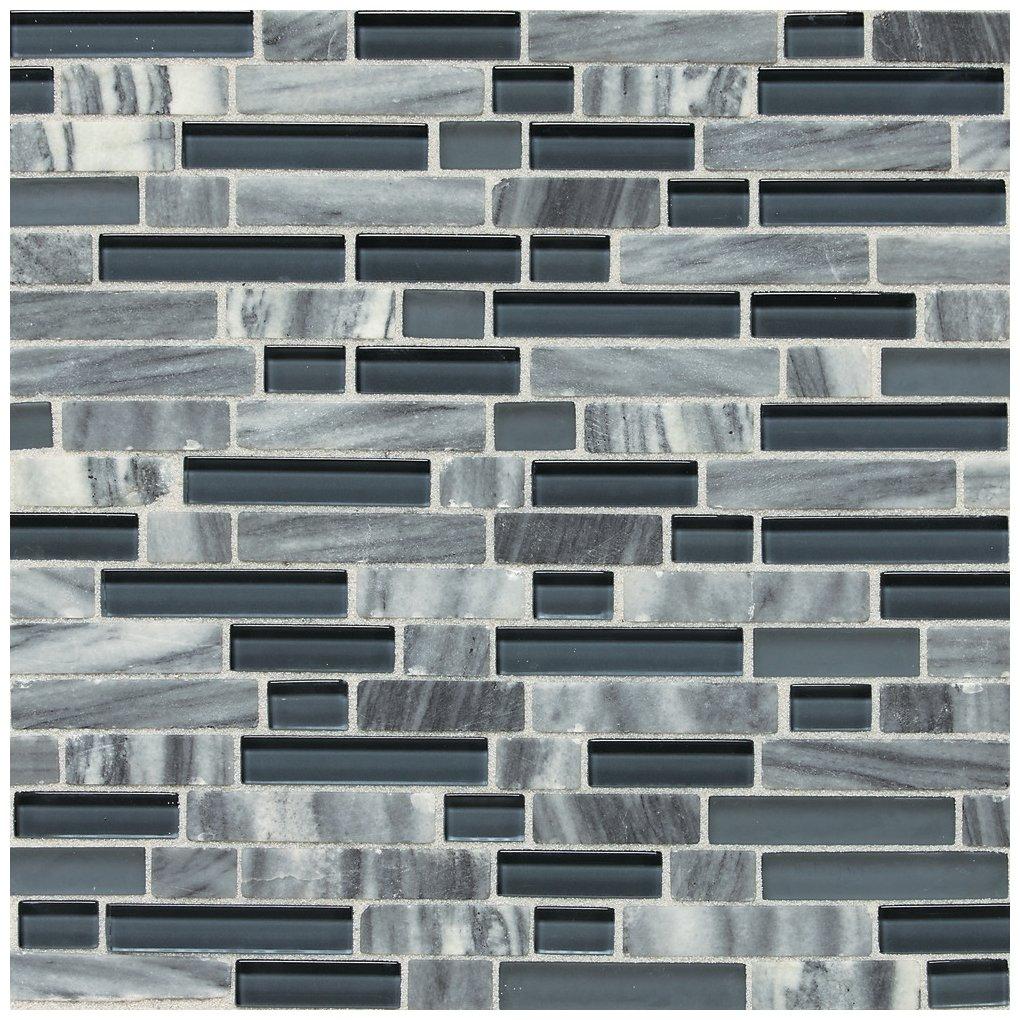 SA59 Dal-Tile 58RANDMS1P-SA59 Stone Radiance Tile Glacier Gray Marble Blend 3 x 8 Dal Tile 58RANDMS1P