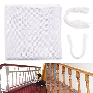 Children Safety Rail Balcony Stairs Protective Net Banister Stair Mesh Nets  For Baby Toddlers Kids Pet