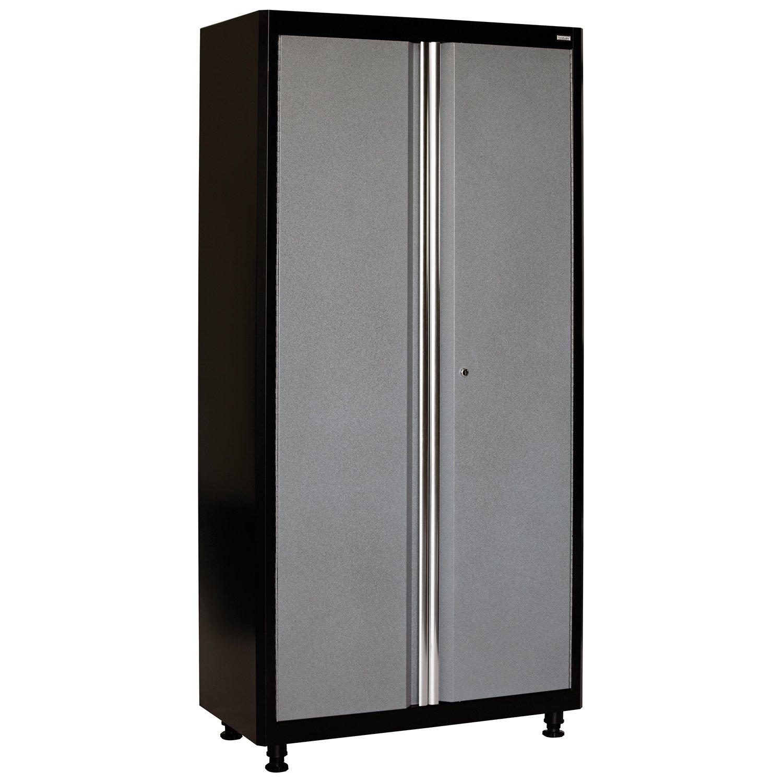 American Heritage AA3F361872-MG09 Welded Steel Floor Cabinet in Black/Multi-Granite, 72'' Height x 36'' Width x 18'' Depth