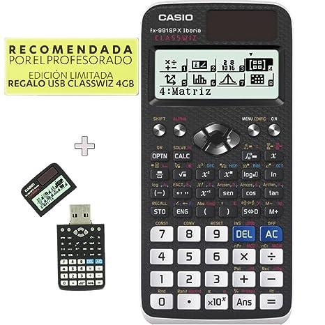 f2cabc7b332c CASIO Calculadora Cientifica FX-991SP X II Iberia CLASSWIZ Edicion Limitada  USB REGALO 4GB