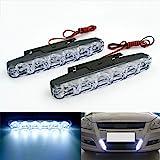 Rayhoo Xenon White light Universal Fit 6-LED High Power LED Daytime Running Lights Driving Lamp(DRL Kit)