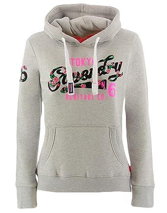 1c69e41266 Superdry Heritage Flock, Sweat pour Femme Taille XL: Amazon.fr ...