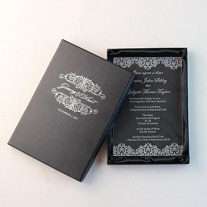 Amazon.com: Personality Luxury Customize Acrylic Wedding Invitation ...