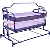 Mothertouch Compact Cradle (Navy Blue Polka Dot)