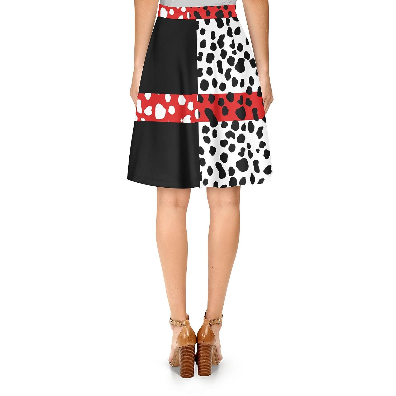 83dabc48f7903 Rainbow Rules Cruella de Vil Disney Villains Inspired A-Line Skirt ...