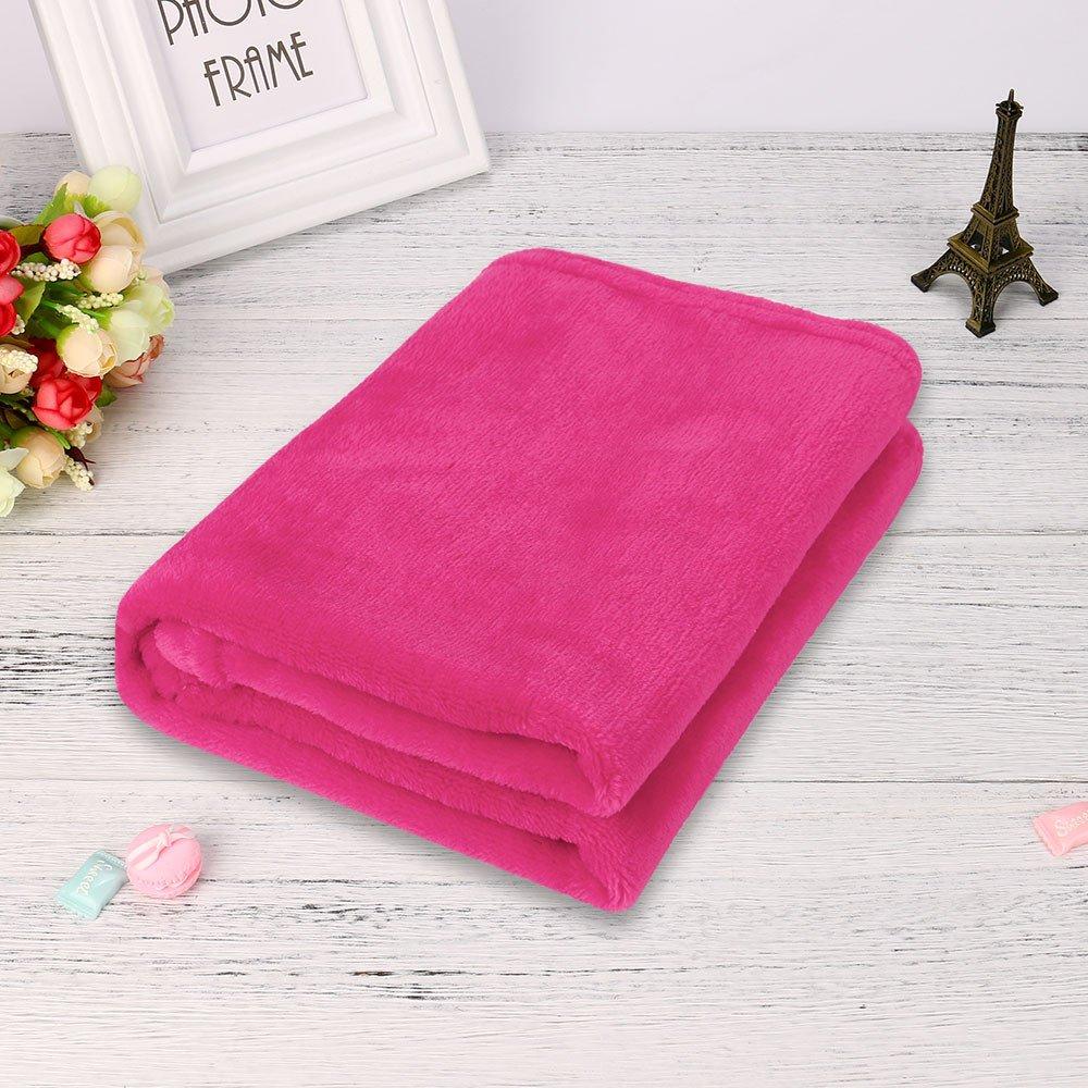 Weiliru Throw Blanket Twin Size Pink Lightweight Throw Blanket Super Soft Cozy Microfiber Blanket by Weiliru (Image #4)