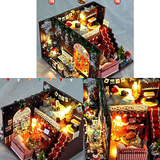 Miniature Dollhouse Diy Kit Petite Maison En Bois De Style Fete De