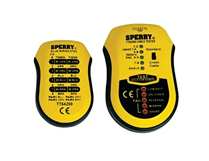 Sperry tt64202 Cable Prueba Plus coaxial y UTP/STP Cable Tester, 1/Clam