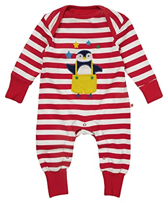 9c71071253f0 Piccalilly Organic Cotton Red   White Stripey Unisex Penguin ...