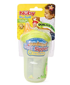 Nuby Insulated Soft Sipper - 210ml (Multicolor) Sippy Cups at amazon