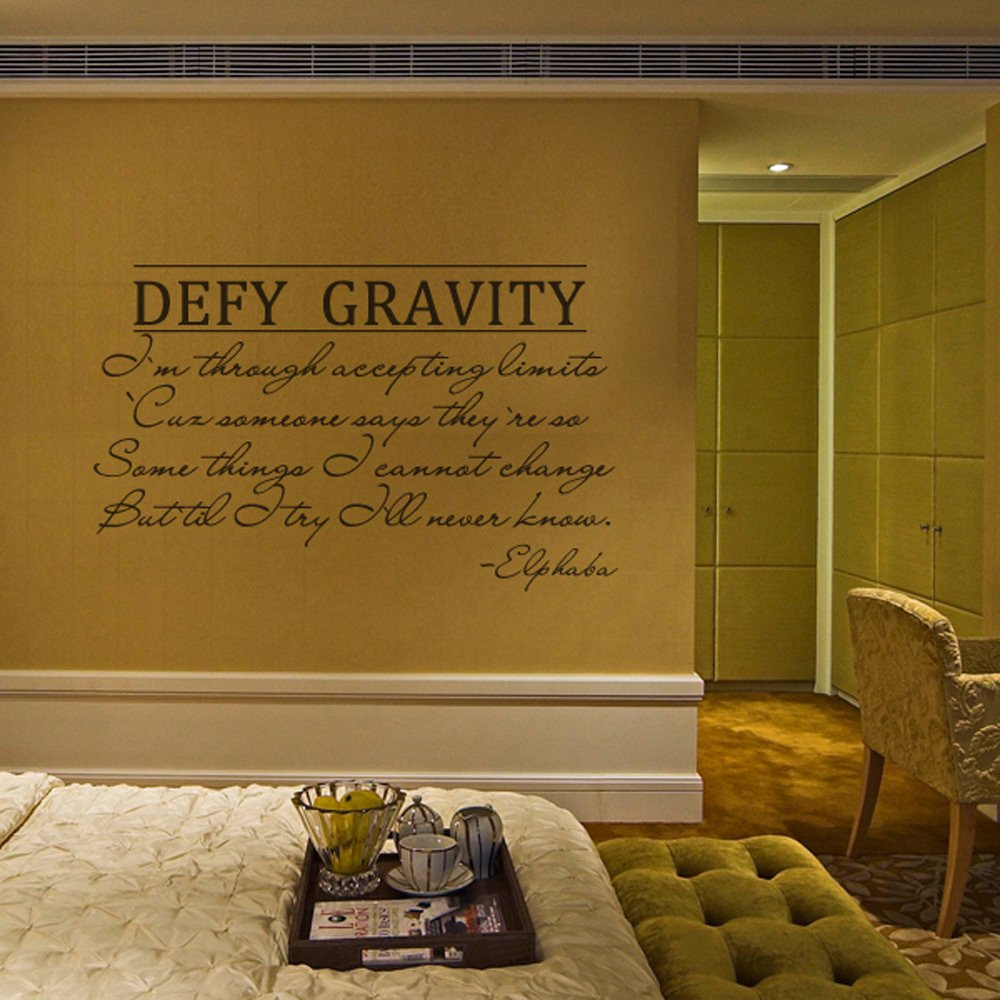 Amazon.com: Wicked the Musical Wall Decal Elphaba Defy Gravity Vinyl ...