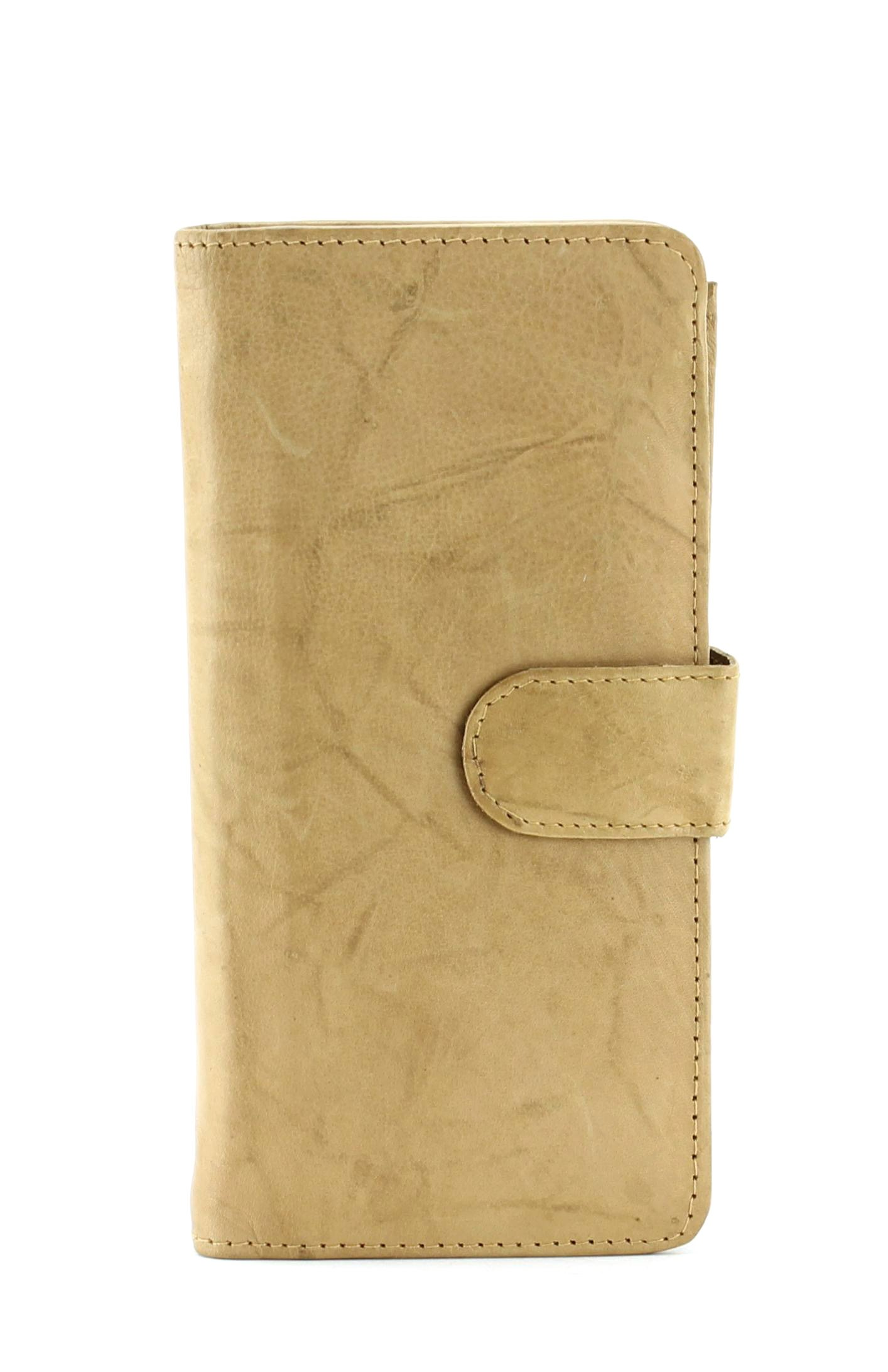 Bacci Top Grain Cowhide Voyager slim brest Jacket Wallet With Check Book Cover