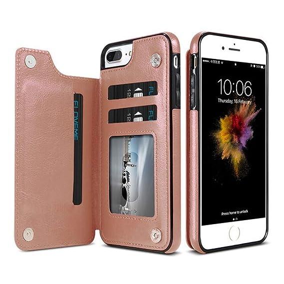 meet 378a0 0a716 Amazon.com: KISSCASE Retro PU Leather Case iPhone X 6 6s 7 8 Plus XS ...