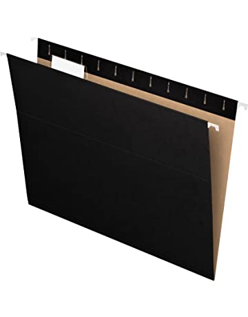 Pendaflex Recycled Hanging Folders, Letter Size, Black, 1/5 Cut, 25