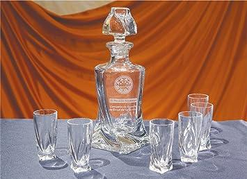 Botella y Vasos de Cristal Personalizados