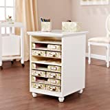 Southern Enterprises Anna Griffin Paper Bin Storage Organizer in White