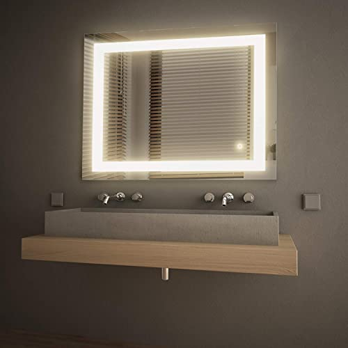 GetInLight LED Wall Mounted Lighted Vanity Mirror, 3000K Soft White , ETL Listed, Damp Location Rated, IN-0405-3-30-36-3K