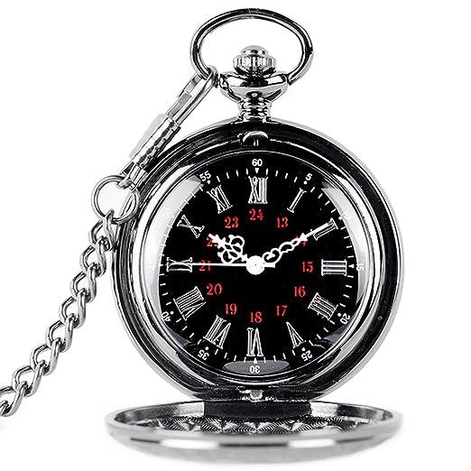 Naisicatar - Reloj de bolsillo (movimiento de cuarzo, números árabes y romanos, esfera