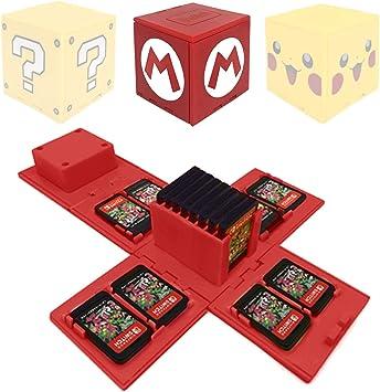 WIKEA Estuche para Tarjeta de Memoria Nintendo Switch, portatarjetas para Videojuegos con 16 Ranuras para Tarjetas (Mario Red): Amazon.es: Juguetes y juegos