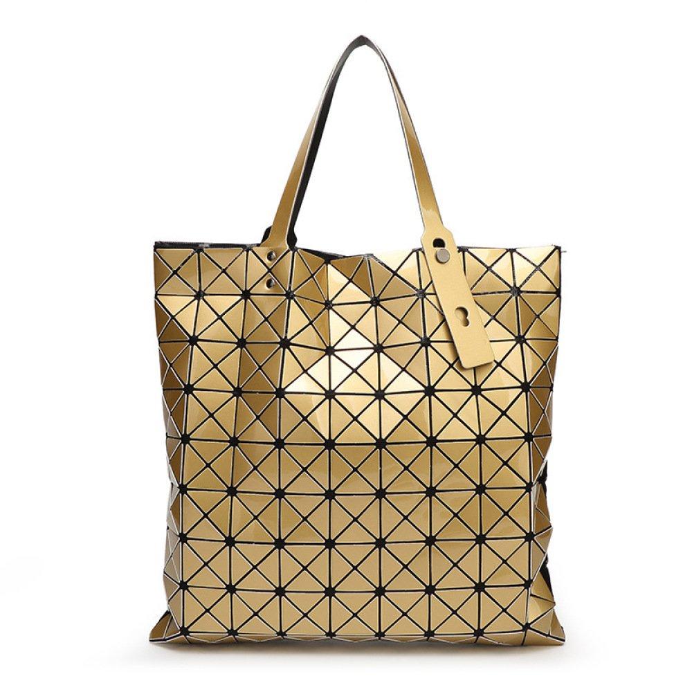 YUEER Femme Sacs à Main Sacs Géométriques Variété Pliage Big Bags Mode Personnalité Sacs à Main, Gold-39 * 39cm GuangZhouXiangBaoChang