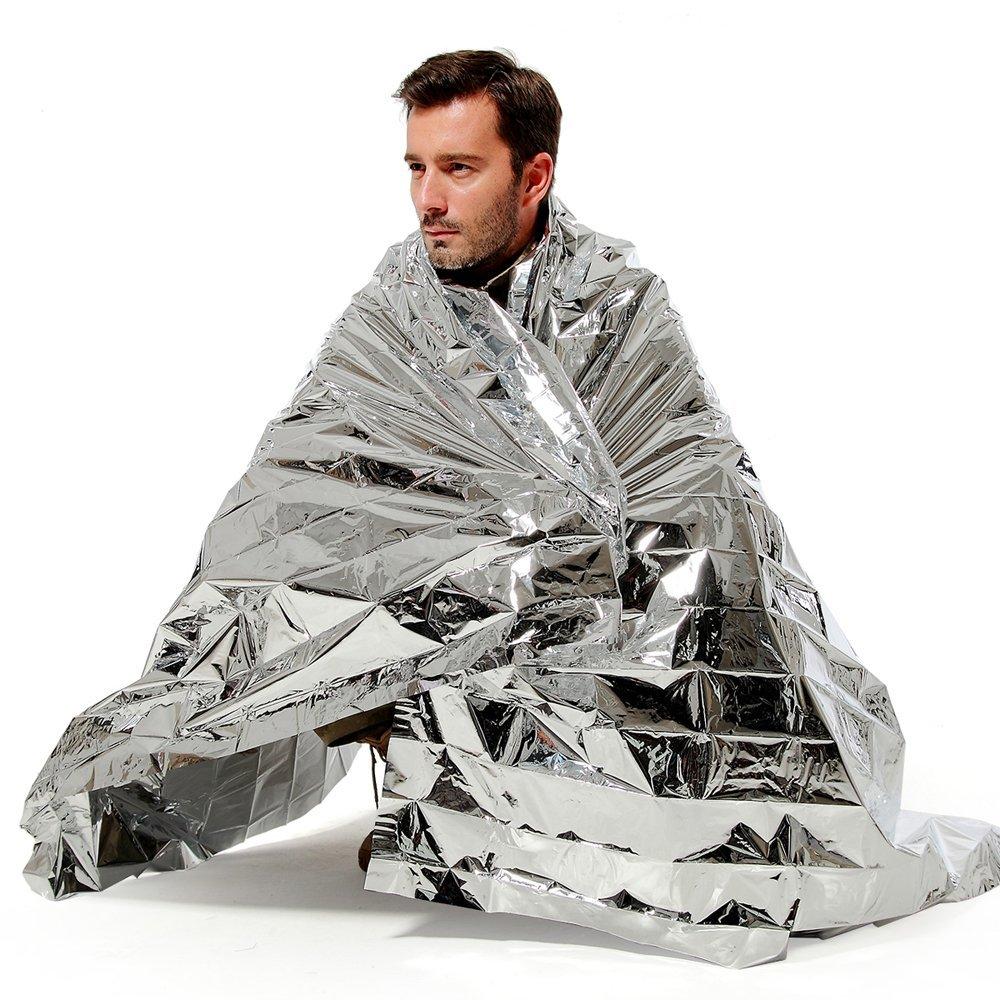 N-Rit Wind /& Waterproof Lightweight Emergency Blanket