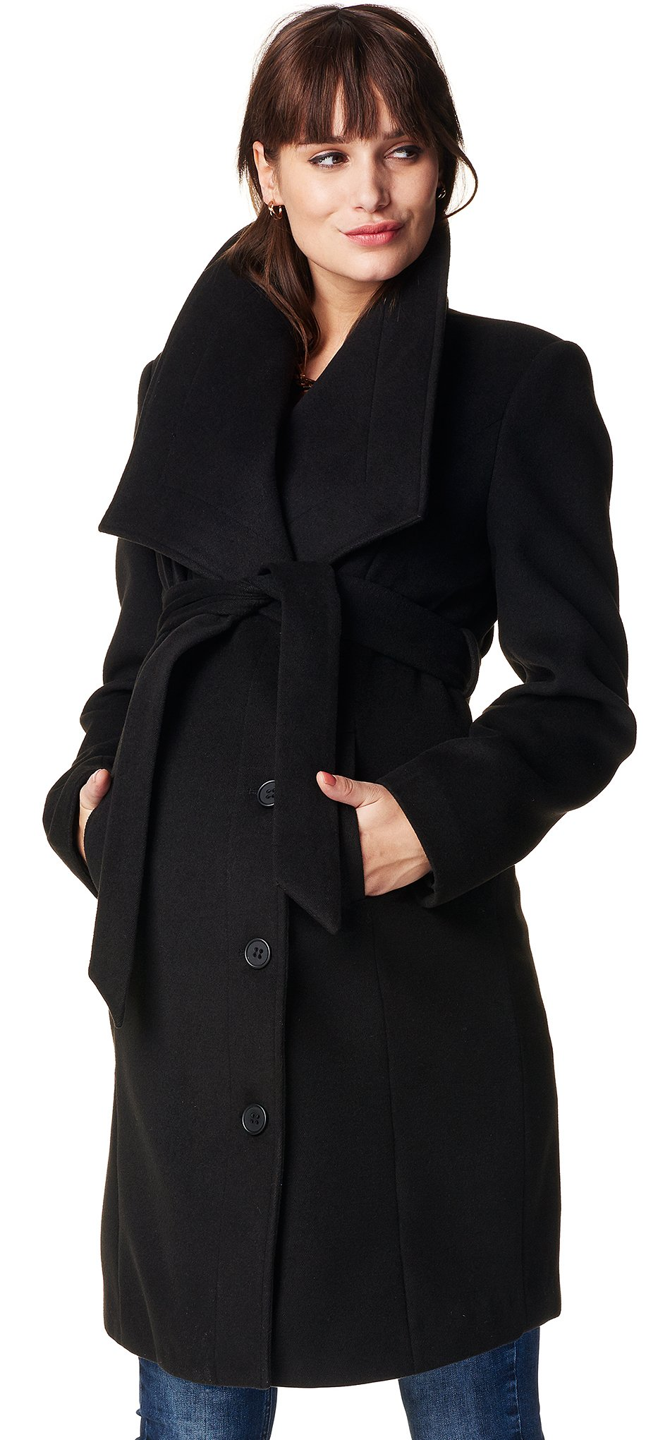 Noppies Women's Maternity Jacket Silje, Black, L by Noppies