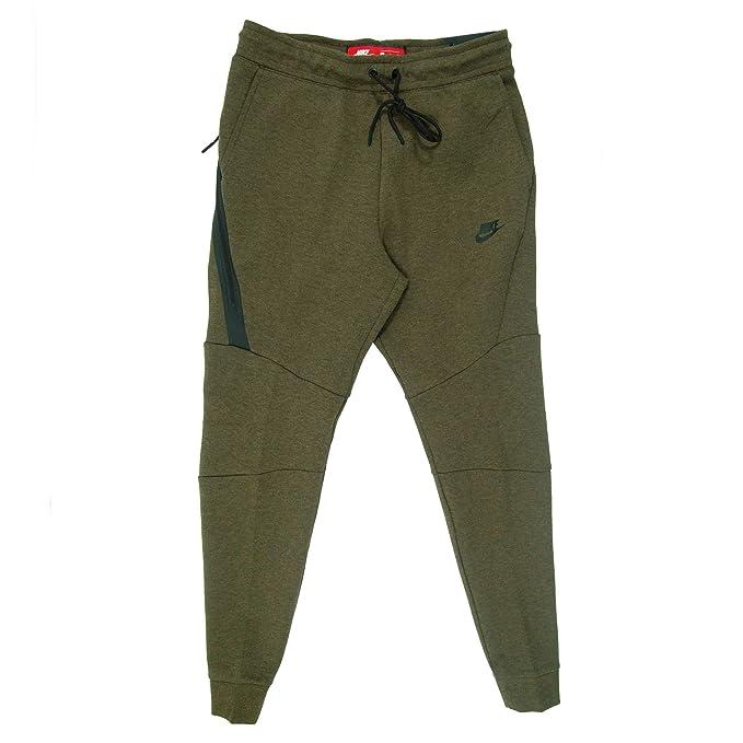 0cc757e129a058 Nike Sportswear Tech Fleece Jogger Pant Men Medium Olive Black 805162-222 ( Large)