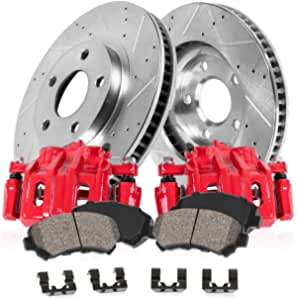 For 2014-2017 Jeep Cherokee 2 Front Zinc Disc Brake Calipers