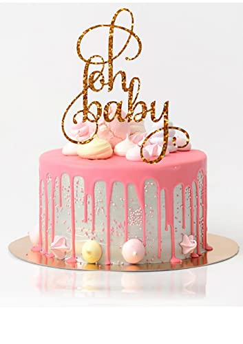 Baby Shower Cake Topper Oh Baby Cake Topper Baby Shower Decorations Glitter Baby  Shower Cake Topper