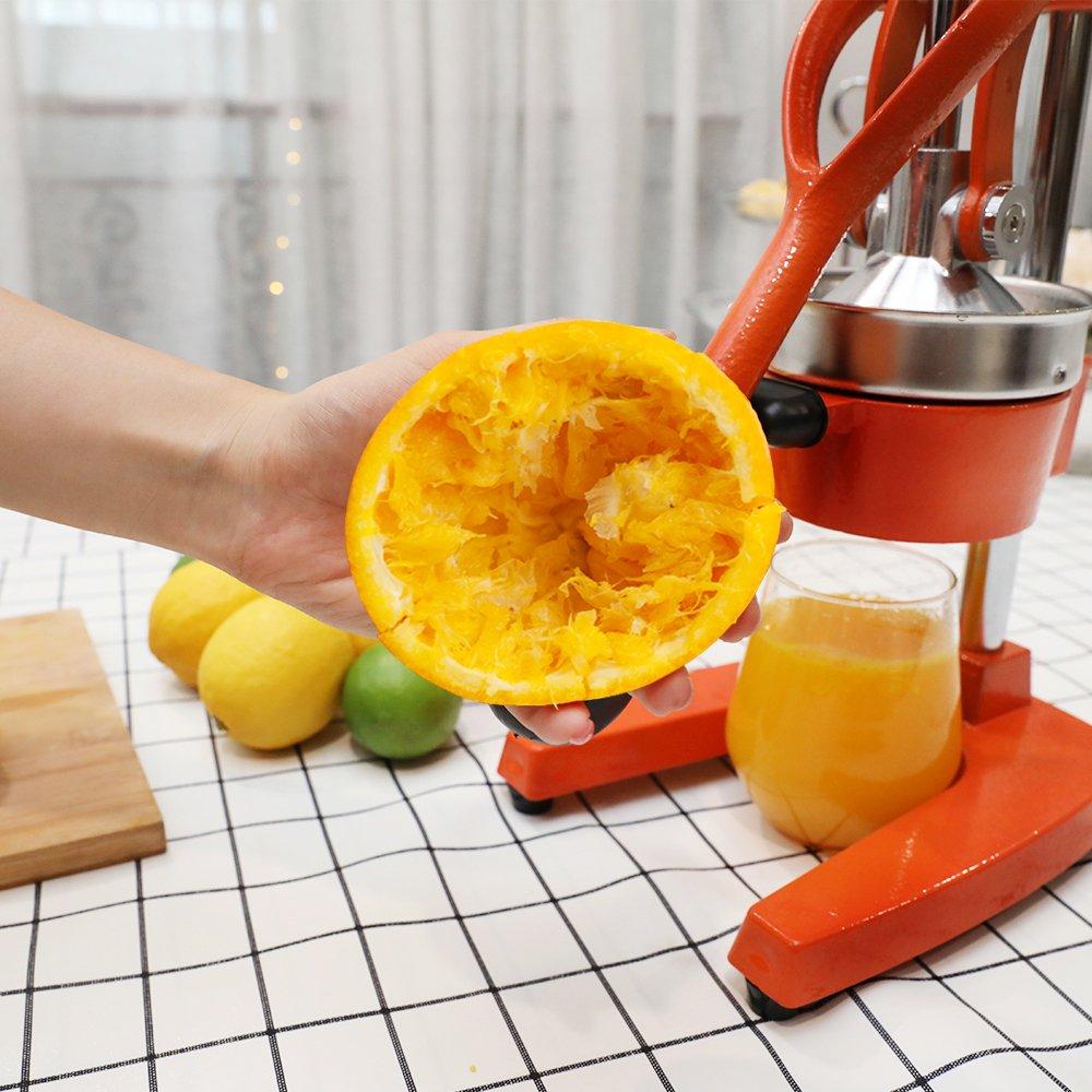 Egofine Commercial Grade Citrus Juicer Hand Press Manual Fruit Juicer Juice Squeezer Citrus Orange Lemon Pomegranate Black
