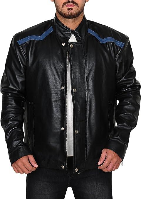 Mens Fashion Real Barack Obama Lambskin Leather Brown Biker Slimfit Style Jacket