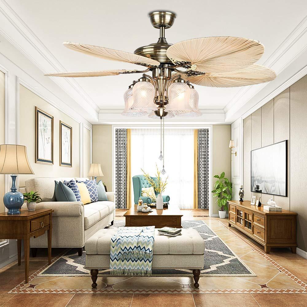 Cheap Luxurefan 52inch Modern Rustic Ceiling Fan Light 3