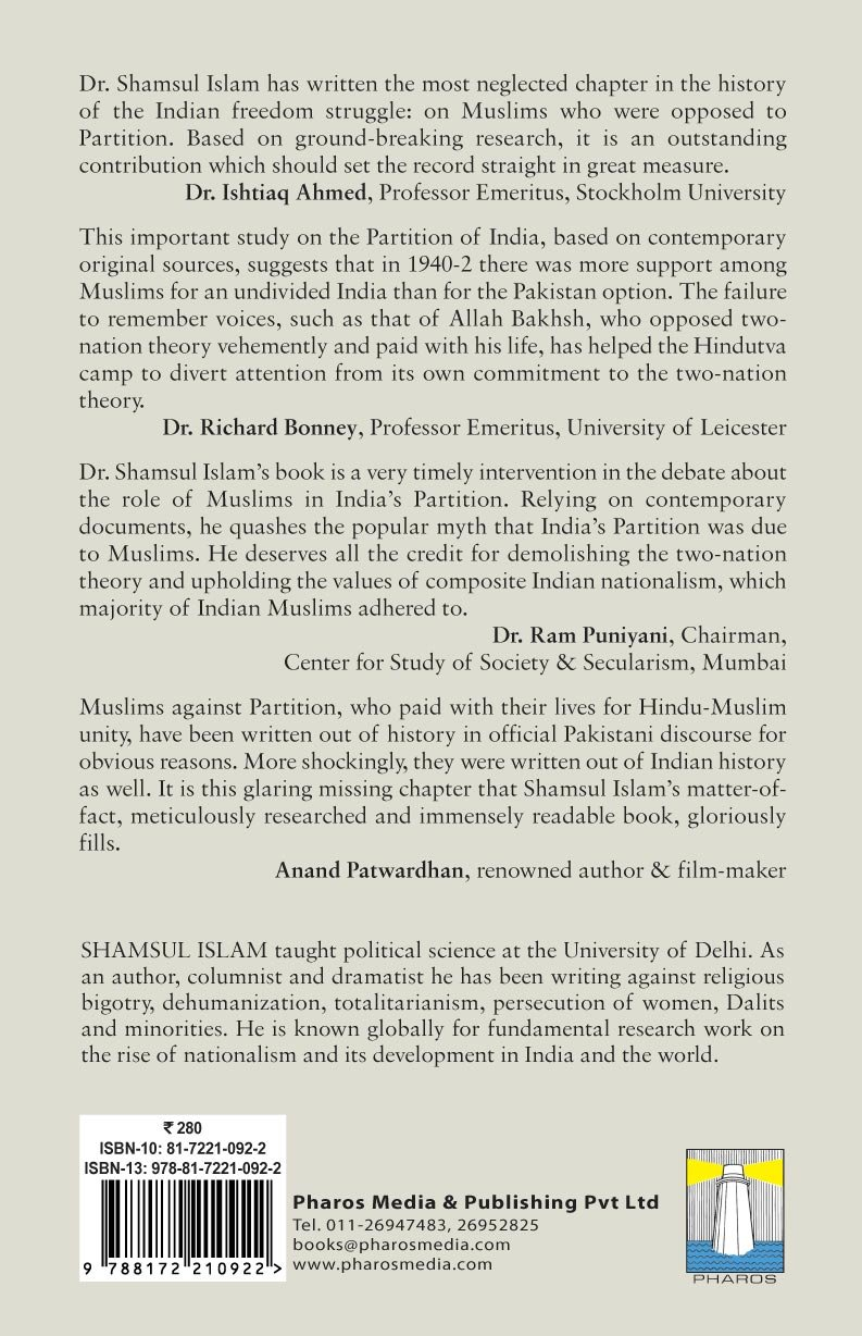 reasons for partition of india
