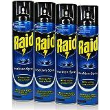 4x Raid Insekten-Spray 400 ml - Wirkt sicher und schnell