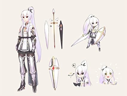Athah Designs Anime Original Warrior Girl Armor White Long Hair White Hair Red Eyes Weapon Ponytail  Inches Wall Poster Matte Finish Amazon In Home