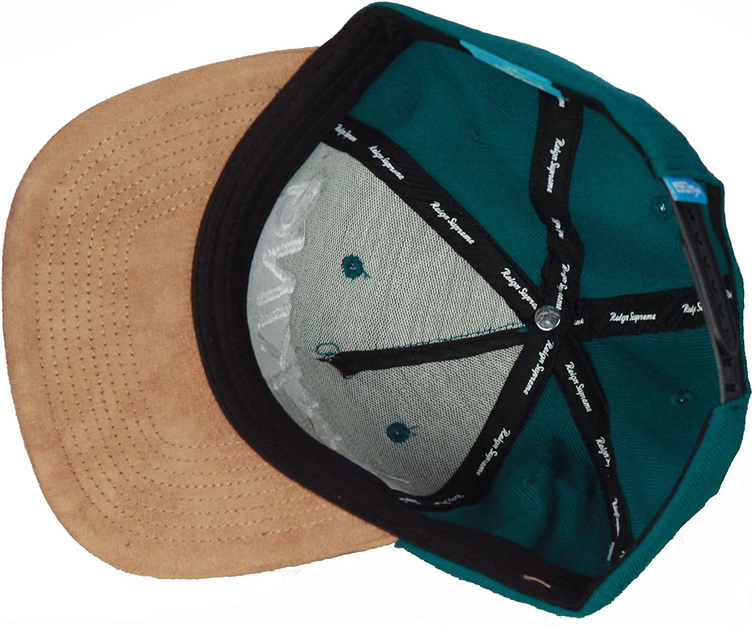 King All Day Long Green with Tan Suede Peak Snapback Hat Cap