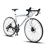 Cyrusher XC760 Races Road Bike Commuting Cycling 52cm Aluminium Frame 14 Speed 700C Shimano Tourney ST-A070 Shifting System Disc Brakes