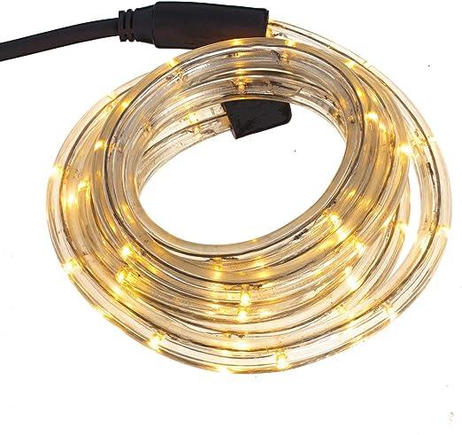 8m LED Lichterschlauch Lichtschlauch Lichterkette Deko Beleuchtung Warmweiß
