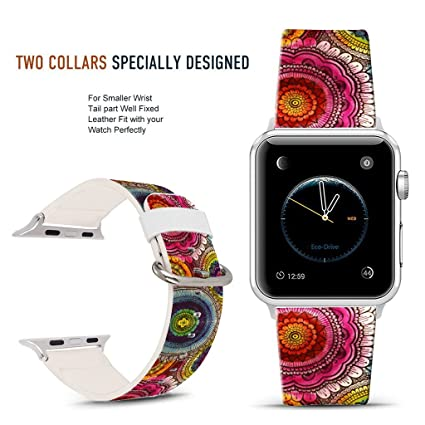 Amazon.com: Para Apple Watch Band 42 mm Acuarela Daisy flor ...