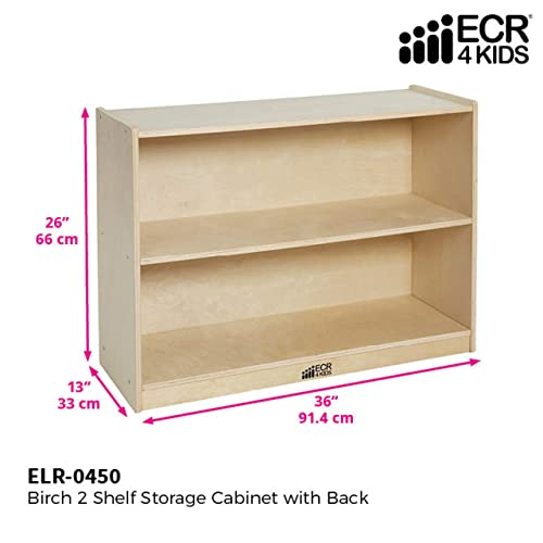 ECR4Kids Birch 2 Shelf Storage Cabinet