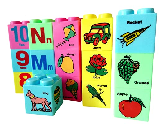 SARTHAM Educational Toys for Nursery Kids (Alphabets, Numbers, Pictures Blocks) Age 2+