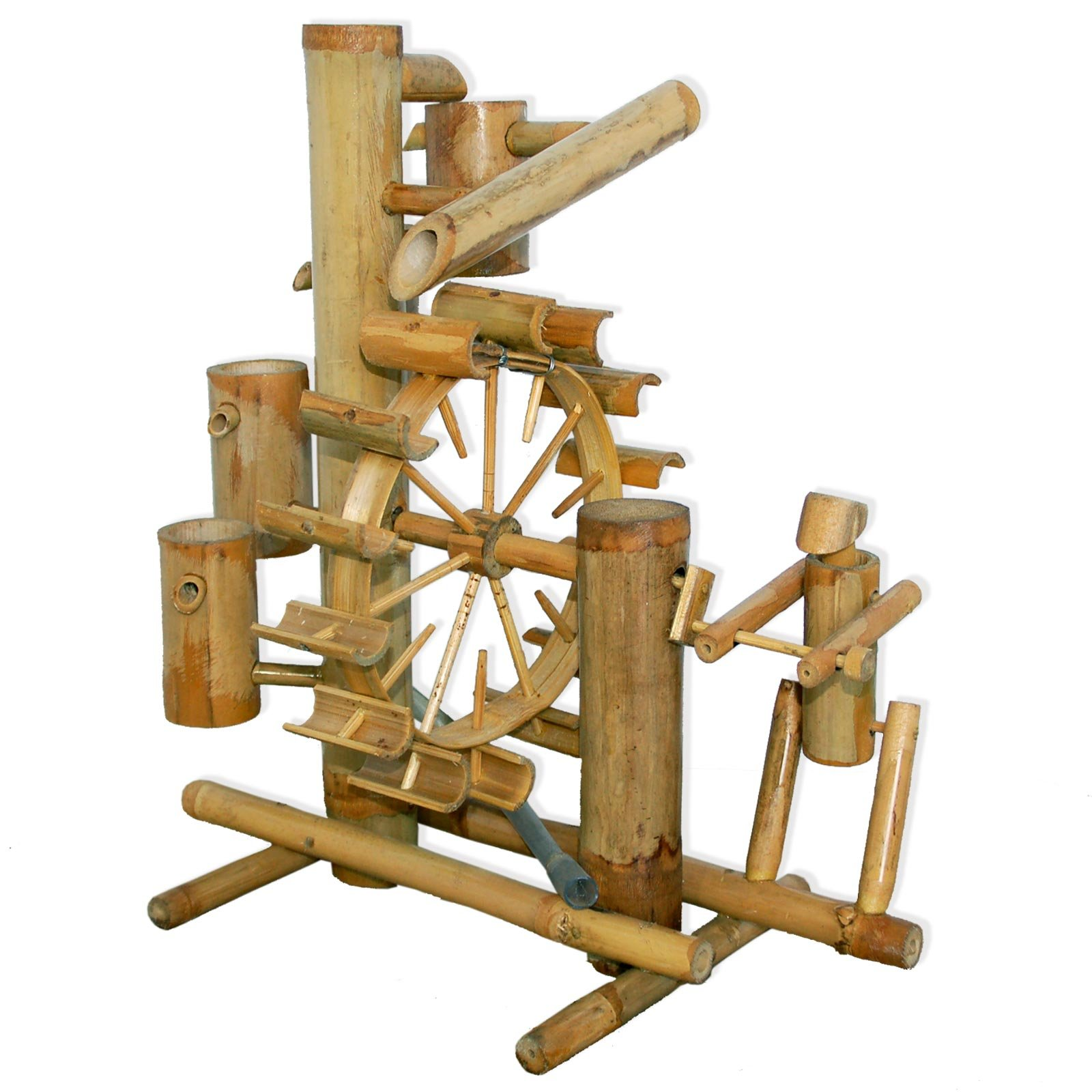 Bamboo fountain, water game, watefall, handmade, imported from Thailand (12038)
