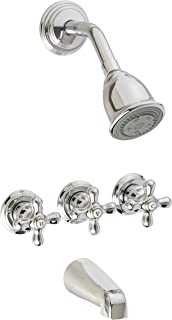 pfister 018cbc threehandle tub and shower combo chrome