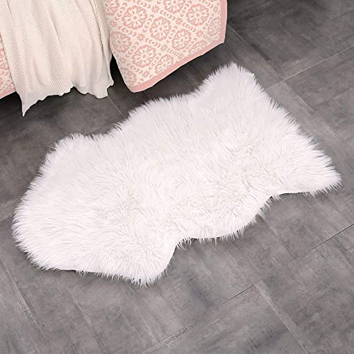 White Fur Rug: Amazon.co.uk