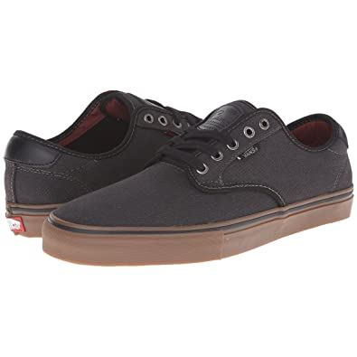 2828d61481 Vans CHIMA FERGUSON PRO (Covert Twill) Black Gum Skateboard Shoes (Medium    6.5