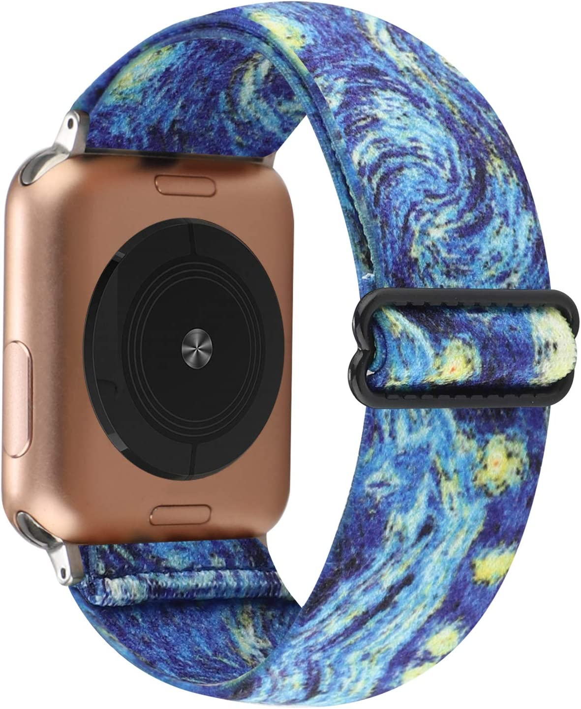 Adjustable Elastic Watch Band Compatible with Apple Watch 38mm 40mm, Nylon Stretchy Loop Bracelet Women Replacement for iWatch Series 6/5/4/3/2/1 (Starry Sky, 38mm/40mm)
