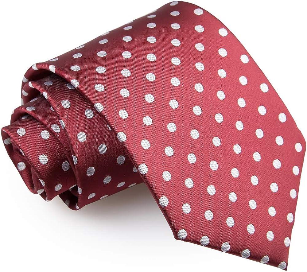 DQT Herren Gepunktet Formal Beil/äufig Regul/är Krawatte