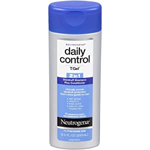 Neutrogena Shampoo T/Gel Daily Control 2-In-1 Dandruff 8.5 Ounce (251ml) (3 Pack)