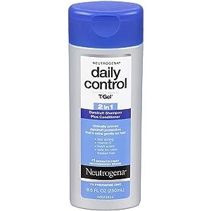 Neutrogena Shampoo T/Gel Daily Control 2-In-1 Dandruff 8.5 Ounce (251ml) (3 Pack)